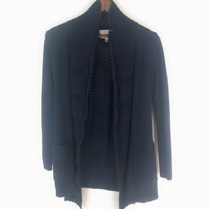 Anthropologie Skies are Blue Sweater Cardigan Navy
